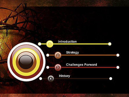 Crown of Thorns on Grunge PowerPoint Template, Slide 3, 12374, Religious/Spiritual — PoweredTemplate.com