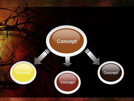 Crown of Thorns on Grunge PowerPoint Template, Slide 4, 12374, Religious/Spiritual — PoweredTemplate.com