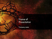 Religious/Spiritual: Crown of Thorns on Grunge PowerPoint Template #12374