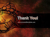 Crown of Thorns on Grunge PowerPoint Template#20