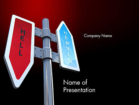 Business Concepts: Heaven and Hell Signs PowerPoint Template #12376