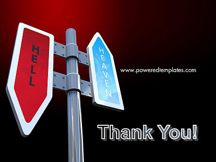 Heaven and Hell Signs PowerPoint Template Slide 20