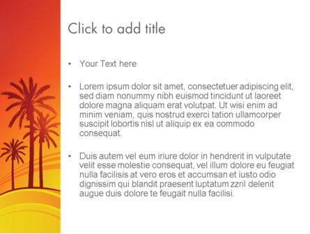 Palms on Sunset PowerPoint Template, Slide 3, 12378, Nature & Environment — PoweredTemplate.com