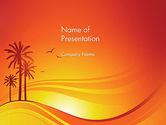 Nature & Environment: Palmen auf sonnenuntergang PowerPoint Vorlage #12378