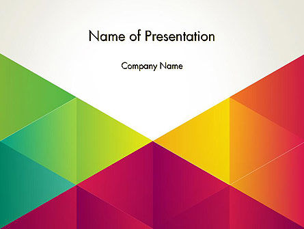 Colorful Triangles Background PowerPoint Template, 12381, Abstract/Textures — PoweredTemplate.com