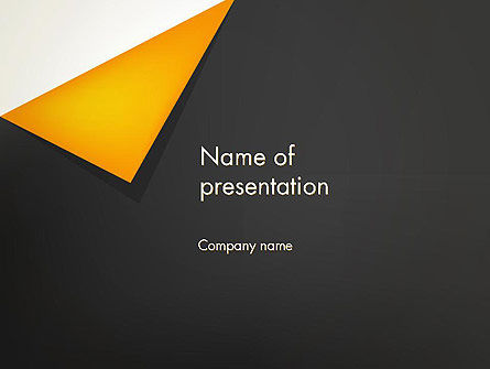 Abstract/Textures: Folded Black Paper PowerPoint Template #12382