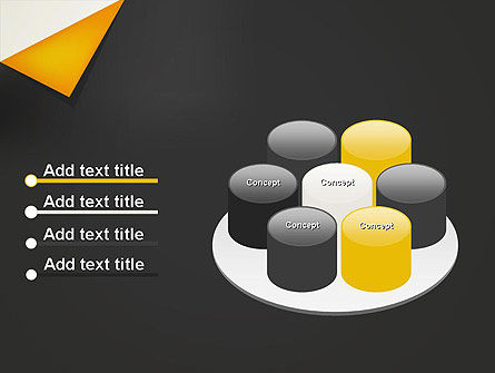 Folded Black Paper PowerPoint Template Slide 12