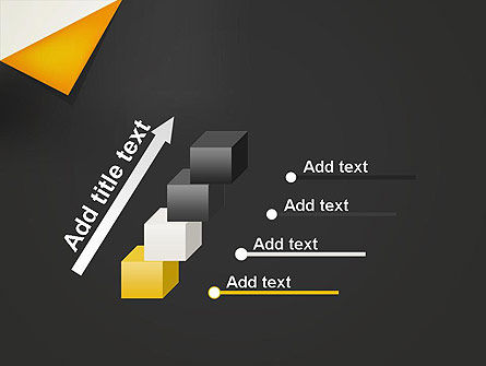 Folded Black Paper PowerPoint Template Slide 14