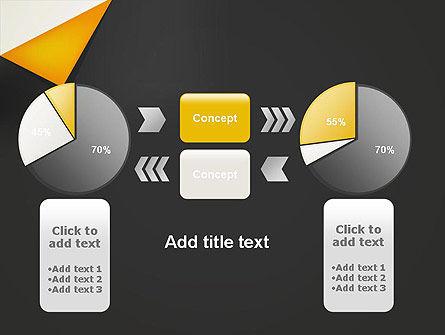Folded Black Paper PowerPoint Template Slide 16