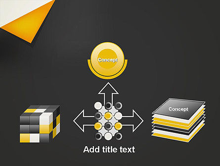 Folded Black Paper PowerPoint Template Slide 19