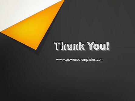 Folded Black Paper PowerPoint Template Slide 20