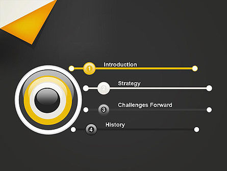 Folded Black Paper PowerPoint Template Slide 3