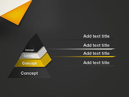 Folded Black Paper PowerPoint Template Slide 4
