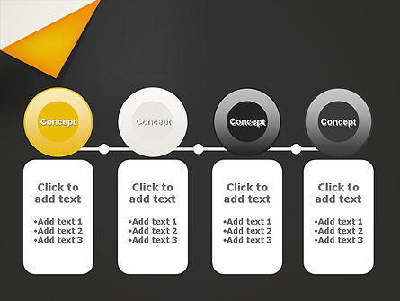 Folded Black Paper PowerPoint Template Slide 5