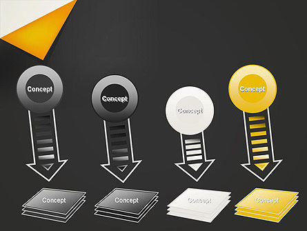 Folded Black Paper PowerPoint Template Slide 8
