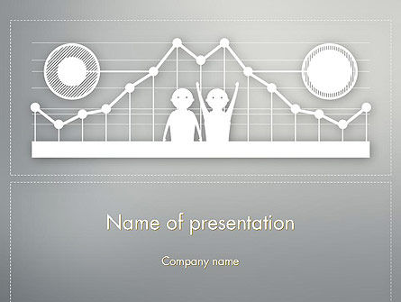 Business: Line Graph Theme PowerPoint Template #12386