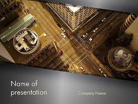 Downtown Block Top View PowerPoint Template
