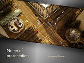 Downtown Block Top View PowerPoint Template#1