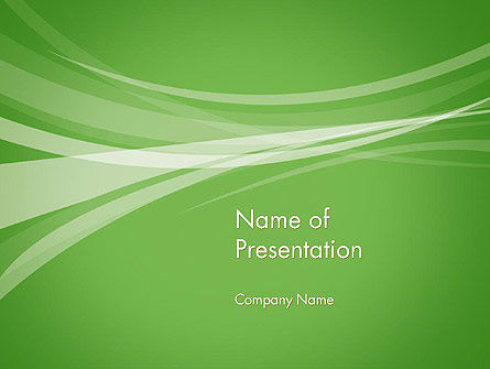 Abstract Green PowerPoint Template