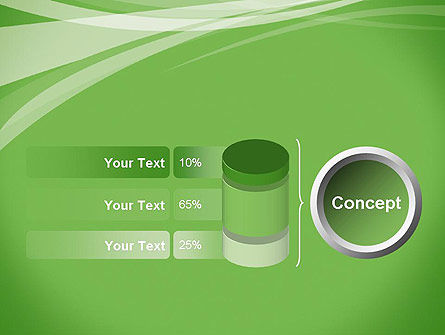 Abstract Green PowerPoint Template Slide 11