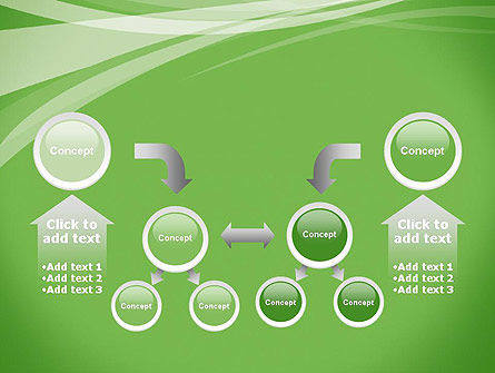 Abstract Green PowerPoint Template Slide 19