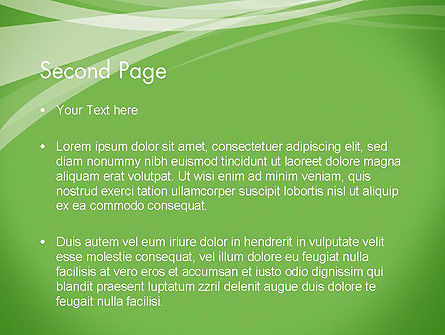 Abstract Green PowerPoint Template Slide 2