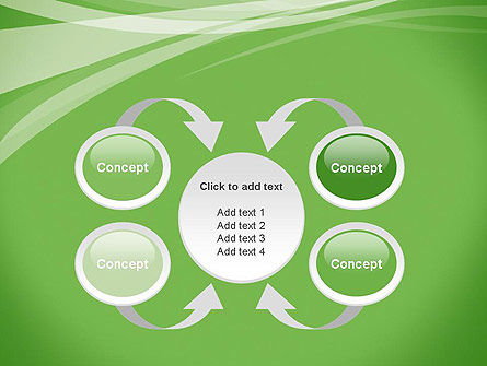 Abstract Green PowerPoint Template Slide 6