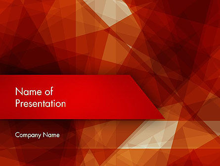 Abstract/Textures: Geometric Red PowerPoint Template #12392
