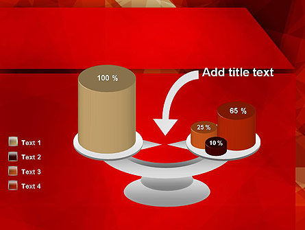 Geometric Red PowerPoint Template Slide 10