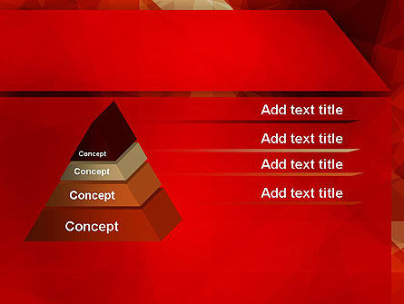 Geometric Red PowerPoint Template Slide 12
