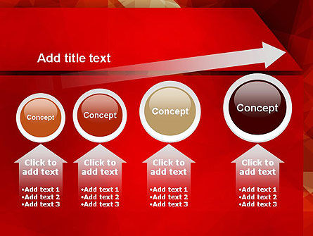Geometric Red PowerPoint Template Slide 13