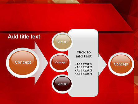Geometric Red PowerPoint Template Slide 17