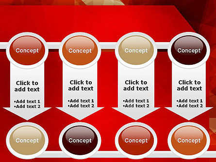 Geometric Red PowerPoint Template Slide 18