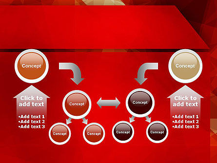 Geometric Red PowerPoint Template Slide 19