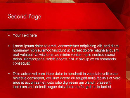 Geometric Red PowerPoint Template Slide 2