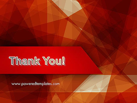 Geometric Red PowerPoint Template Slide 20