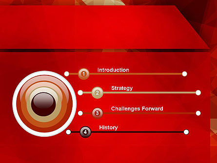 Geometric Red PowerPoint Template, Slide 3, 12392, Abstract/Textures — PoweredTemplate.com