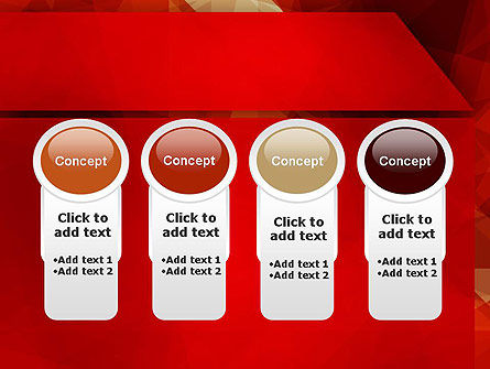Geometric Red PowerPoint Template Slide 5