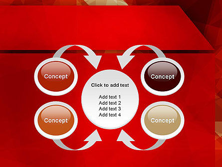 Geometric Red PowerPoint Template Slide 6