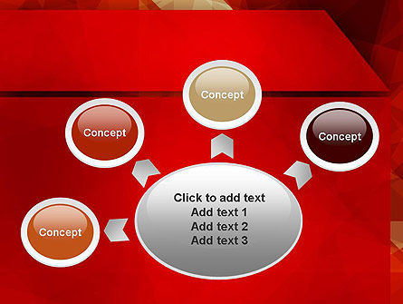 Geometric Red PowerPoint Template Slide 7