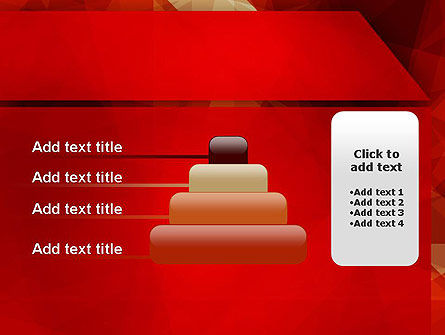 Geometric Red PowerPoint Template Slide 8