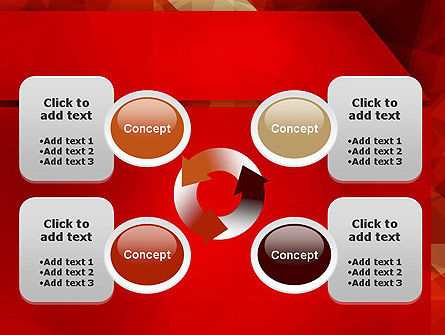 Geometric Red PowerPoint Template Slide 9