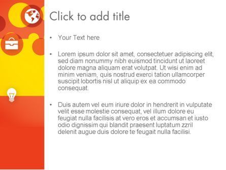 Dots and Icons PowerPoint Template, Slide 3, 12393, Business — PoweredTemplate.com