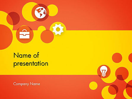 Dots and Icons PowerPoint Template