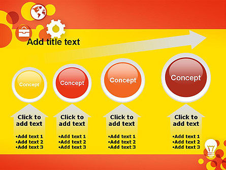 Dots and Icons PowerPoint Template Slide 13