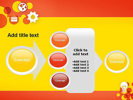 Dots and Icons PowerPoint Template Slide 17