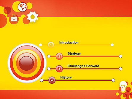Dots and Icons PowerPoint Template Slide 3