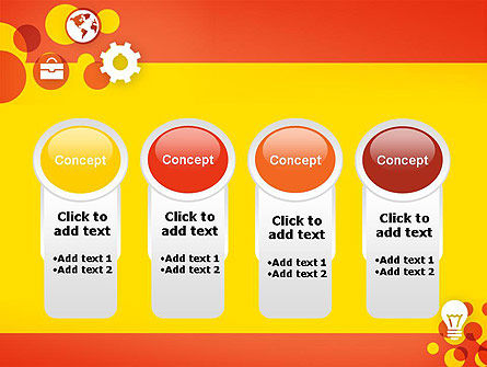 Dots and Icons PowerPoint Template Slide 5