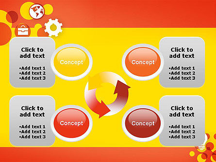 Dots and Icons PowerPoint Template Slide 9