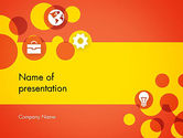 Business: Dots and Icons PowerPoint Template #12393
